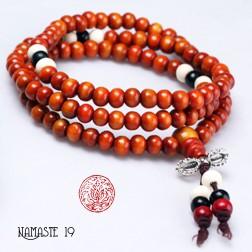 collier tibétain Japa Mala Yang Para 108 perles et dorjé argent tibétain