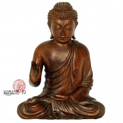 Sculpture de Bouddha en palissandre. 22cm