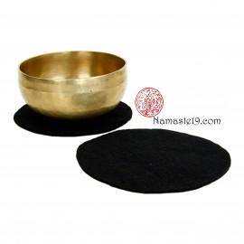 20 cm noir Support plat feutre pour Bol Tibétain