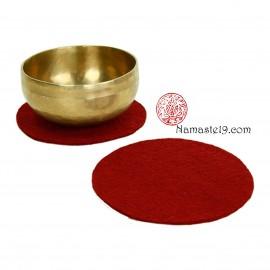 20 cm rouge Support plat feutre pour Bol Tibétain