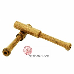 15cm Bâton bois de teck tourné pour bols chantants