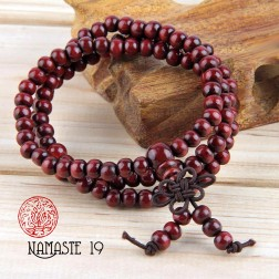 Mala tibétain en graines de bois de rose