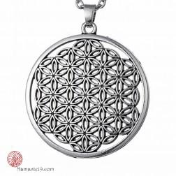 grand bijou médaille pendentif fleur de vie
