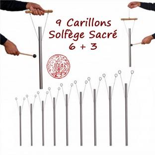 « Set Solfège Secret COMPLET 9 carillons » Set de carillons thérapeutiques sonores