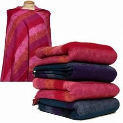 Très grand châle couverture de méditation XXL rouge, fushia, rose