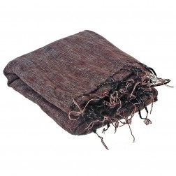 Très grand châle couverture de méditation XXL rouge et brun