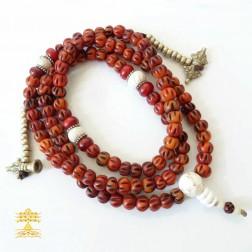Mala bouddhiste népalais de méditation 108 perles en os de yack