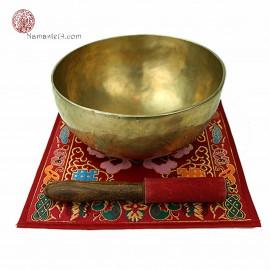 Napperon Tibétain pour bol chantant, Brocard de soie 25cm x 25cm