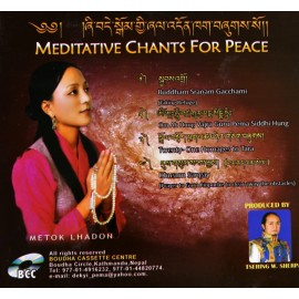 Cd musique tibètaineCD MEDITATIVE CHANTS FOR PEACE (CHANTS MÉDITATIFS POUR LA PAIX)