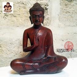 Bouddha sculpté du Cambodge en Bois de Makha