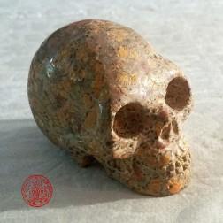 15B1 Crâne en Jaspe orbiculaire. Crâne de guérison
