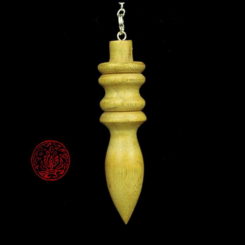 Pendule broc liande en bois pendule de radiesth sie for Grande pendule en bois