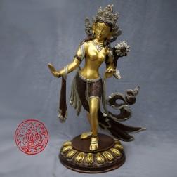 Tara Verte dansante en bronze 3 couleurs 39cm, 3770 g
