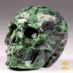17/15 Crâne en Rubis Zoïsite. Crâne de méditation, libido, dynamisme.