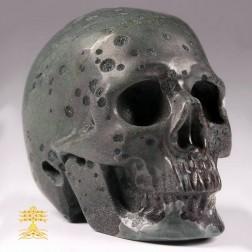 17/20 Beau crâne en jaspe plumite. Crâne d'ancrage et de méditation,