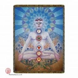 Tapisserie Yogi avec Chakra COUVRE-LIT MULTICOLORE CHAKRAS 7 CHAKRAS