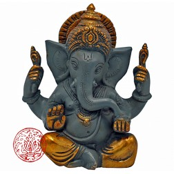 GANESH LAITON BICOLORE 14 CM FINITION OR
