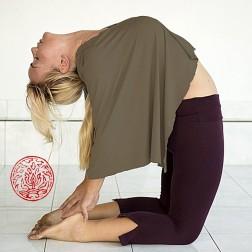Poncho de yoga 'Sukha' couleur pierre taille unique