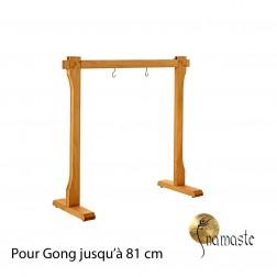 Stand droit en hêtre pour gong 60 à 80 cm,
