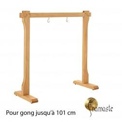 Stand droit en hêtre pour gong 80cm à 101 cm,