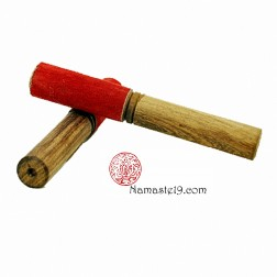 19cm,BÂTON BOL CHANTANT BOIS - PEAU DE CHAMOIS rouge