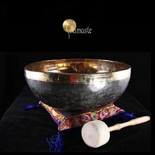 Bol chantant Tibétain Shiva noir et or.: 33 cm