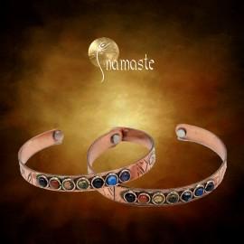 Bracelet cuivre magnétique ayurveda avec minéraux 7 chakras