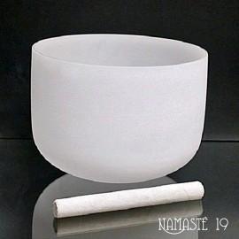 30 cm Bol chantant en cristal de quartz 432Hz
