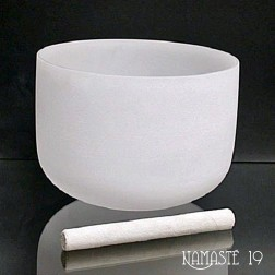 35 cm Bol chantant en cristal de quartz 432Hz
