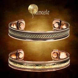 Bracelet ayurveda cuivre magnétique 2 aimants 1098Ga