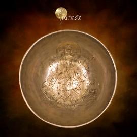 Bol chantant de l' Himalaya Saraswati gravé 13 cm