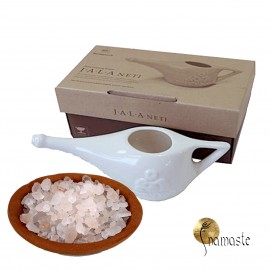 NetiPot céramique 250ml + sel de l' himalaya