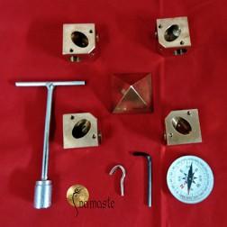 Kit connecteur de pyramide de Gizeh en cuivre pour des tube de 16mm