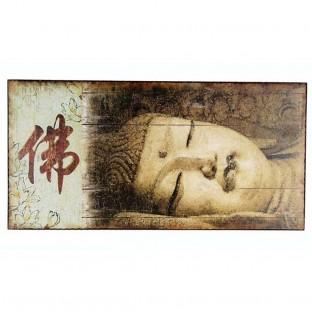 Tableau Bouddha sur bois 60x30cm