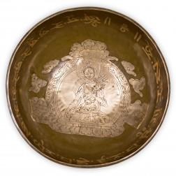 Bol chantant thérapeutique de TARA avec mantra. 27 cm
