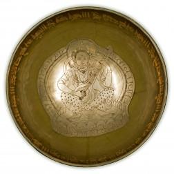 Bol chantant thérapeutique de Saraswati avec mantra. 26 cm