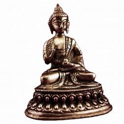 Bouddha Amogasiddhi statue bronze 10cm
