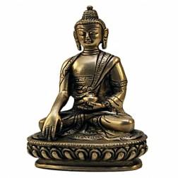 Bouddha Akshobya statue bronze 14cm