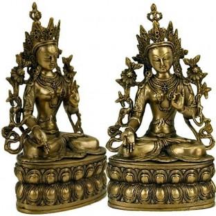 Tara Blanche Drolma statue bronze 35 cm Poids +/- 3300 g