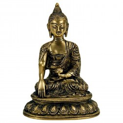 Bouddha Sakyamuni, statue sculpture bronze 15 cm