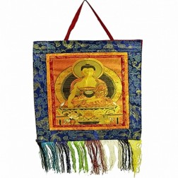 Thangha an brocart avec Bouddha 40x28