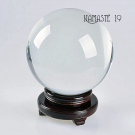 150 mm Boule de cristal de quartz Sans plomb, voyance, méditation, channeling, feng shui. Socle en cristal OFFERT