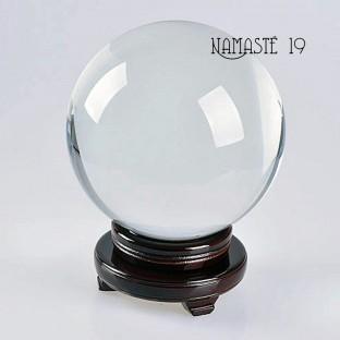 150 mm Boule de cristal (socle bois non inclus)