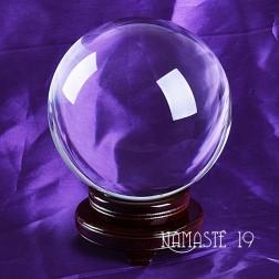 200 mm. 12kg. grosse Boule de cristal de quartz Sans plomb, voyance, méditation, channeling, feng shui.