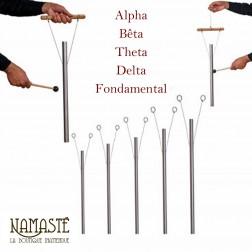 """Pack de 5 carillons thérapeutiques """"Ton Binaural"""" Ondes Alfa, Beta, Teta, Delta + Fondamental"""
