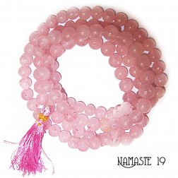 MALA Quartz rose - QUALITÉ AA - 108 PERLES 6/8mm