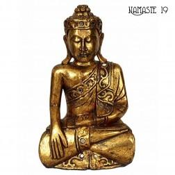 Grand Bouddha M3 Thaî doré à la feuille d'or. 50cm