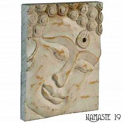Petit panneau sculpté Bouddha 25cm