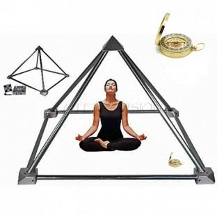 Kit pyramide de yoga, méditation et de guérison.