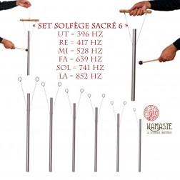 « Set Solfège Sacré 6 » Set de carillons thérapeutiques sonores